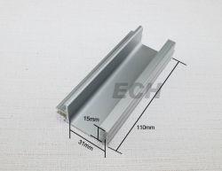 Perfis extrudados de alumínio liga de prata