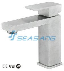 Cabinet de toilettes du bassin de la salle de bains en acier inoxydable robinet avec certificat de filigrane