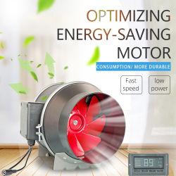 """Flux mixtes de ventilateur 6 du ventilateur en ligne""""Smart conduit en ligne du contrôleur du capteur de ventilateur pour chauffage refroidissement Booster"""