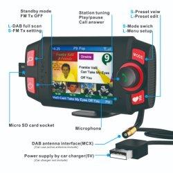 2.4 de kleurrijke Zender van de FM van de Adapter van de Auto DAB+/DAB van de Vertoning Radio, met Hands-Free Bluetooth en de Speler van de Uitrusting van de Auto van de Playback van de Muziek MP3 in Adapter van de SCHAR van de Auto de Digitale Radio