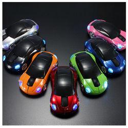 Vente d'usine logo personnalisé de la forme de voiture de la souris Souris sans fil 2,4 GHz