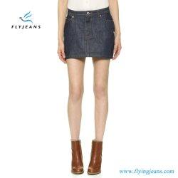 Venta caliente materias Denim mujeres minifalda Damas Jeans faldas (E. Pág. 518)