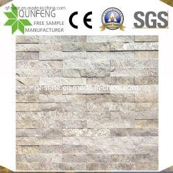 China-natürlicher Wand-Umhüllung-Travertin gestapeltes Steinfurnier-blatt