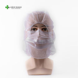 Медицинские защитные средства личной защиты капота PE + PP Non-Woven одноразовые хирургические крышки головки блока цилиндров белый защитные балаклаве крышки капота