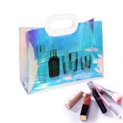 Borsa portatile del Tote di datazione del PVC dell'ologramma della spiaggia di corsa del regalo elegante popolare femminile di trucco