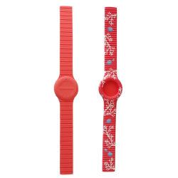 Plongeur attache en caoutchouc de silicone souple de la Dragonne de remplacement bracelet avec des barres de printemps Outil Set pour SEIKO Watch