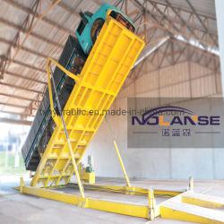 공장 맞춤형 컨테이너 트럭 언로딩 플랫폼 텔레스코픽 다중 단계 유압 실린더 긴 행정