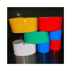 Seguridad amarillo/rojo cinta reflectante, cinta adhesiva de alta intensidad ultra brillante banda reflectora poligonal de panal.