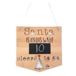 대나무 크리스마스 훈장 Handmade 벽 표시에 의하여 주문을 받아서 만들어지는 디자인 카운트다운