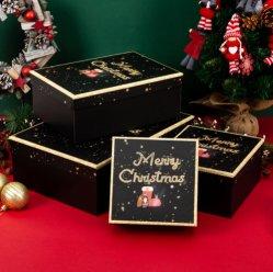 La impresión de colores personalizados de cartón caja de embalaje de regalo de Navidad