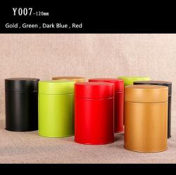 El té de la ronda de la hojalata Universal lata Lata de Té de embalaje Packaging botella regalo botella pequeña de Nombre personalizable té tin box