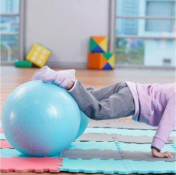 Personalisiere Farbe PVC Aufblasbare Peanut Yoga Gym Ball