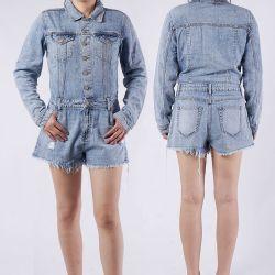 질 Women&#160를 위한 100%년 면 숙녀 청바지 복장 산성 세척 진 복장;