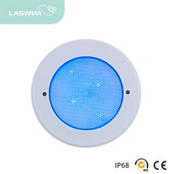 Conduit de lumière sous-marine avec corps en ABS et Base en acier inoxydable 12 LED avec niche pour le béton Piscine