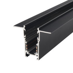 Via LED incorporado de luz LED tipo pista magnética LED de rampa de perfil de alumínio 66,4*54.3mm