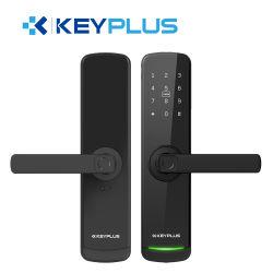 新しい Smart Lock Alexa アプリ指紋認証キーレスでホームフィンガーを操作 WiFi デジタルロックリモコンツヤ Ttlock アプリ用ロック 木製ドア