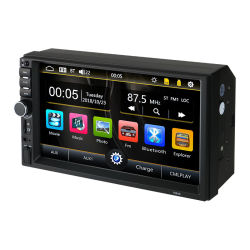 7 polegadas Universal para Automóvel DIN de 2 MP5 auto-rádio leitor de multimédia do sistema de áudio e vídeo
