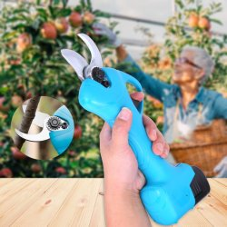 Sécateurs électriques sans fil professionnel avec 2AH Batterie au lithium rechargeable Branche Jardin Pruner Clippers