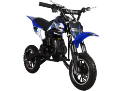 Mini-Bike Gas Powered 49cc 2 tempos de bicicleta de Sujeira Blue
