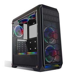 شعار طباعة الحرير من OEM لوحة حرير بلاستيكية ABS حديدية لعبة الكمبيوتر في علبة الكمبيوتر USB3.0 Gabinete Gamer