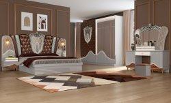 Moderna chinesa Hotel Home Sala de madeira MDF Cama King size Quarto Mobiliário Sofá