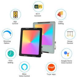 실외 30W RGBW 스마트 LED 블러드라이트 1억 6천만 컬러, IP66(스테이지, 파티, 정원용 Tuya & Alexa Google Home 앱 포함)
