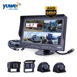 4CH Quad View Ahd 960p Sistema de Câmara de retrovisor de carro com fio