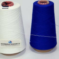 뜨개질을 하기를 위한 스판덱스를 가진 폴리에스테 또는 면