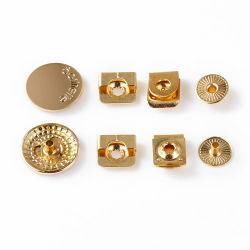 Ventes en gros Custom 18mm carré en métal boutons Snap