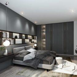 Venta caliente muebles personalizados de madera MDF armario dormitorio moderno