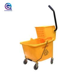الطابق التجاري تنظيف تنظيف البلاستيك الكبس حامل مشغل النغمات المتحرك (Wringer Trolley) جرافة الأغراض