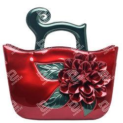 Handcee 2020の新しいパテント・レザーの立体花の方法女性ハンドバッグのディストリビューター流行デザイナー革女性の贅沢な肩の鎖袋の卸売