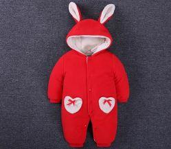 شتاء [ببي جرل] جذّابة أرنبة زرّ ثوب فضفاض [أنس] طفلة لباس