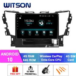 Witson Android 10 Car видео плеер для Toyota 2015 Alphard 4 ГБ оперативной памяти 64Гб флэш-памяти большой экран в машине DVD плеер