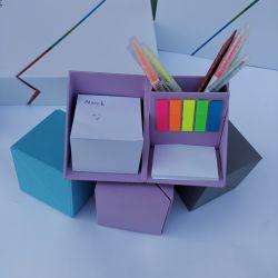 習慣によって着色される多機能の魔法のペンのホールダーボックスメモのメモ帳のノート