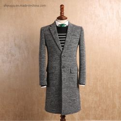 Comercio al por mayor nuevo estilo de chaqueta de invierno lana abrigo abrigo Mens