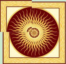 Дом декор керамических золотой ковер плиткой 1200X1800 Plolished пола больше размера Custom-Made