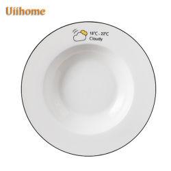 パーソナリティーかわいいテーブルウェア版のヌードル・スープの皿の深い円形の版(1)