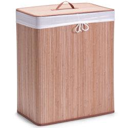 Fabricante de nuevo diseño de almacenamiento de la casa de bambú natural plegable personalizado servicio de lavandería y caja Cesta