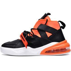高い上のエアクッションメンズ運動靴の偶然のバスケットボールのスニーカー