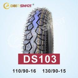 La taille de bonne qualité 110/90-16, DS103 130/90-15 Pattern de pneus pour motos de type de tube