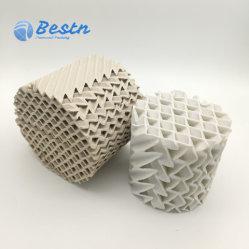 Structurés en céramique emballage pour les applications de transfert de chaleur et de masse