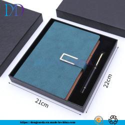 Bloc de notas Bloc de notas de cuero de imitación personalizado + Bolígrafo metálico/1