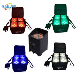 حقيبة سفر لتطبيق 4*18 واط مؤشر LED الخاص بالبطارية المتنقلة مرحلة المحنة المصابيح