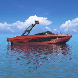 Syona 19 Velocidade de fibra de barco Lancha em vermelho