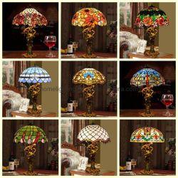 Tiffany Sombra artesanais de vidro da lâmpada de Mesa Secretária 16polegadas lâmpadas de luz