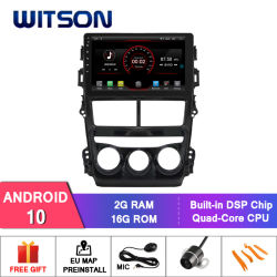 Witson Android 10 DVD плеер для Toyota Vios 2008 (Руководство по ремонту кондиционер версии)