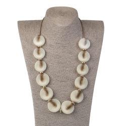Nueva ronda Abalorio Acrílico Collar de joyas de señoras colgante Nombre