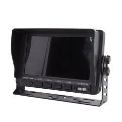 차 대 대형 트럭을%s 혼자서 쿼드 뒷 전망 Ahd 쪼개지는 모니터를 반전하는 7 인치 TFT LCD 디지털