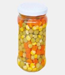 Konserven IQF gefroren Gemüsemischung Karotte Grüne Erbse Grün Bohnen, Mais, Masse
